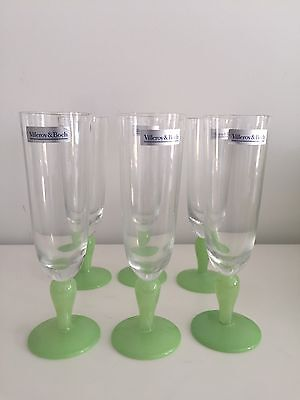 Villeroy & Boch Adeline Champagne Flutes Set of 6 boxed (New Never Used)