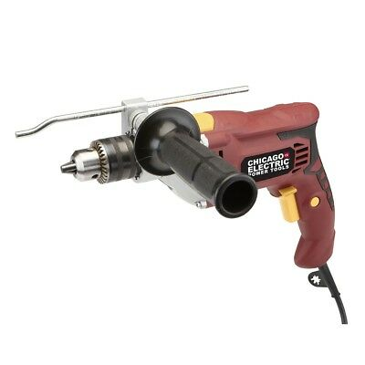 "1/2"" Heavy Duty Variable Speed Reversible Hammer Drill through concrete wood"