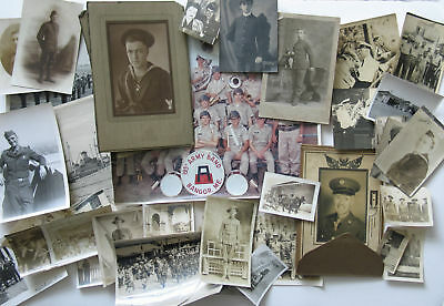 Lot 42 Military Photos US Army Navy circa 1890-1970 WWI WWII Soldiers Sailors