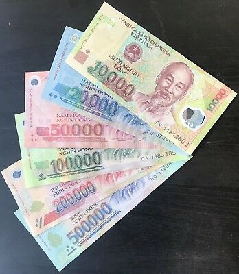 880,000 Vietnamese Dong (VND) - RARE - 6 denomination Notes! - Fast Delivery