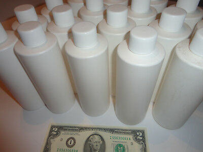 New 8 oz (240ml) WHITE Hard HDPE Plastic Bottles w/ CAPS (Choose Amt) CRAFTS H&B