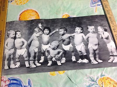 Vintage Nos Nike Allstar Babies In Shoes & Diapers Poster
