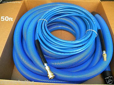 """Carpet Cleaning   50ft Vacuum & Solution Hoses 1.5"""" wand cuff"""