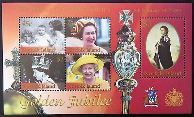 2002 Norfolk Island Stamps - Queen Elizabeth II Golden Jubilee - Mini Sheet MNH
