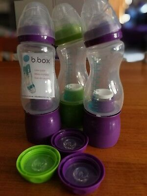3 x bbox baby bottles + dispenser