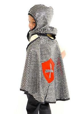 NEW Little Heroes Knight Armour & Helmet Cape Dress Up