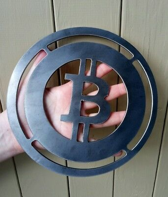 novelty btc bit bitcoin coin plaque wall art  medal  large rare cryptocurrency