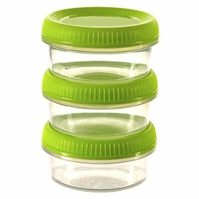 Curver Smart to go set di 3salsiere, resina, verde lime, 10x 7x (x8c)