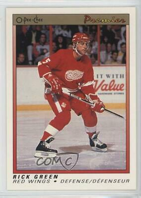 1990-91 O-Pee-Chee Premier #37 Rick Green Detroit Red Wings Hockey Card