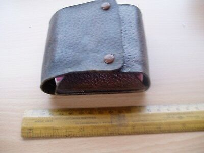 Vintage Gillette Razor Shaving Set Leather Case