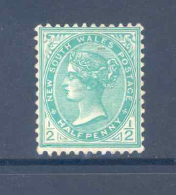 New South Wales  Predecimal 1892/1910 /2 Penny Green Very Fine Mint