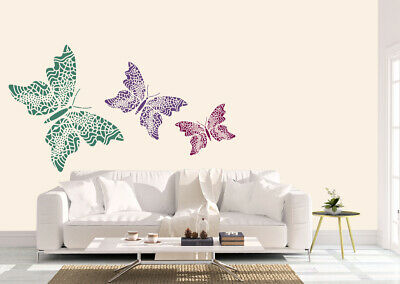 Butterfly Lace Stencil Vintage Template Card making Paint Home Decor Crafts BU3