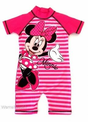 Girls MINNIE MOUSE Surf suit, swimming costume, swimsuit  18mths - 5yrs FREE P&P
