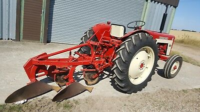International 434 C/w Matching 2 Furrow Plough, V5 (Q), Excellent Condition