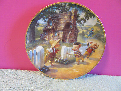 Three Little Pigs Classic Fairy Tales collector Plate 1991 Knowles Bradex