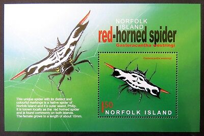 2004 Norfolk Island Stamps - Spiders Mini Sheet MNH