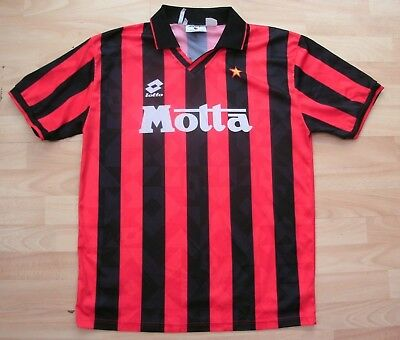 Ac Milan 1993-1994 Home Lotto Football Soccer Shirt Jersey Top Large Adult