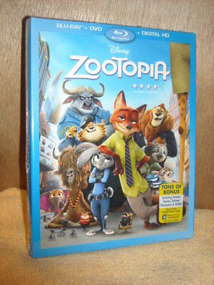 Zootopia (Blu-ray/DVD, 2016) DISNEY Ginnifer Goodwin, Jason Bateman, Idris Elba