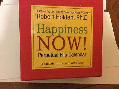 Happiness Now Perpetual Flip Calendar