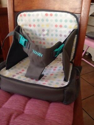 Tomy portable Booster High Chair Changing Bag With mat,light to carry,holidays