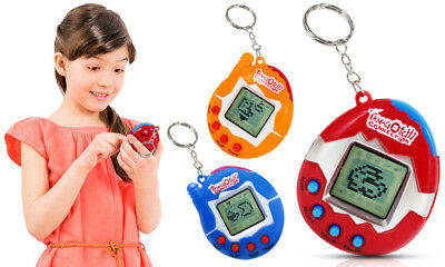 Tamagotchi Retro Virtual Mini Handheld Pet Keychain Toy in Choice of Colour