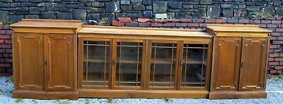 A stunning antique oak bookcase of great proportions