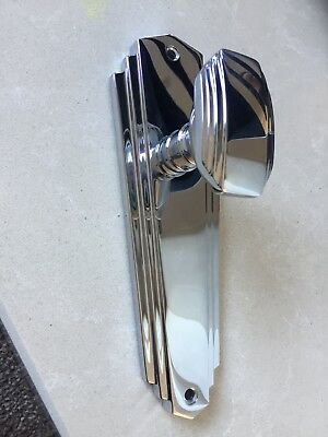 Art Deco style chrome door knob