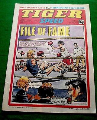 Tiger Comic 28/11/1981 With  Birmingham City F.c.  Stunning Colour Poster