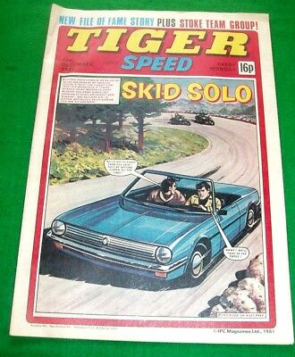 Tiger Comic 12/12/1981 With  Stoke City F.c.  Stunning Colour Poster