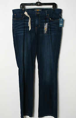 NWT Lucky Brand Blue Cotton Blend Straight Leg Jeans Size 16/33