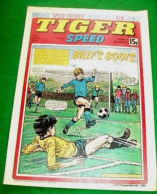 Tiger Comic 18/4/1981 With  Sheffield Wednesday  Stunning Colour Poster
