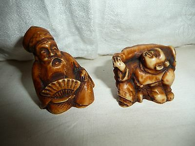 lot of 2 netsuke made in ITALY for ACTION  resin ?