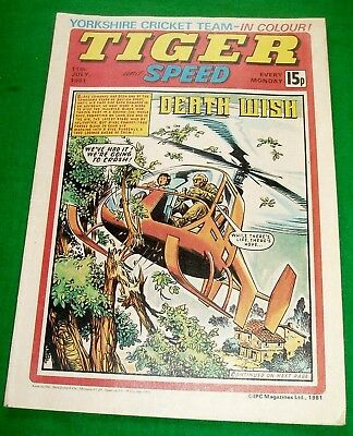 Tiger 11/7/1981 With  Yorkshire County Cricket Team  Stunning Colour  Poster