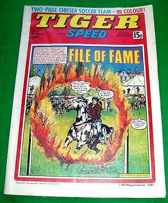 Tiger 21/3/1981 With  Chelsea F.c.   Stunning Colour Team Poster