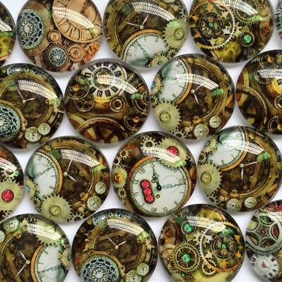 Handmade Glass Cabochons | Steampunk Inspired Designs | Choice of Sizes