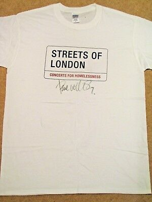 PAUL WELLER Signed T-shirt - Streets of London charity auction