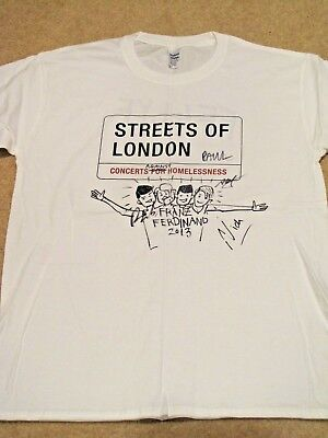 FRANZ FERDINAND Signed T-shirt - Streets of London charity auction