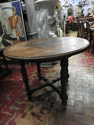 Bel Table Rustic Round Walnut Solid Wood Dalle Piedmont Campaigns