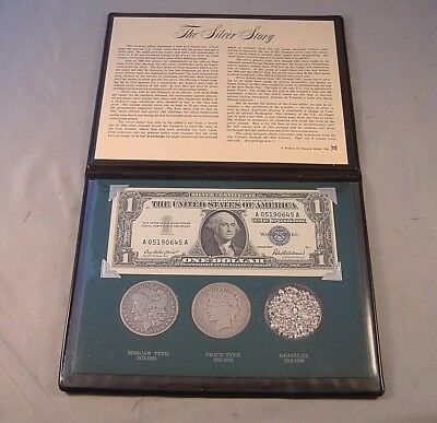 The Silver Story Morgan and Peace dollars Silver certificate and Silver Granules