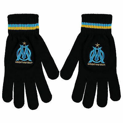 Olympique de Marseille Fan Gloves Black Adult Kids