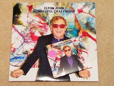 ELTON JOHN Signed 'Wonderful Crazy Night' x2 - Streets of London charity auction