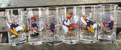 1998 Smuckers Collectibles Looney Tunes Set (6) Glasses - Excellent