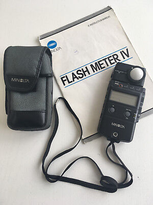 Used Minolta Flash Meter IV with case,strap and original instruction manual