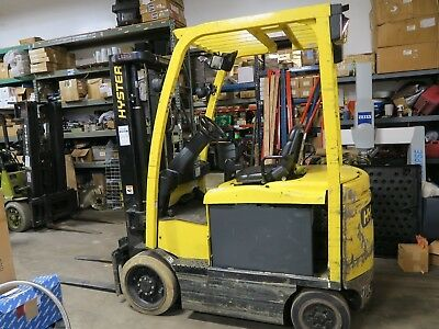 "2011-Hyster- Electric-Forklift-4500-lb. 133""-Lift REBUILT BATTERY WITH WARRANTEE"