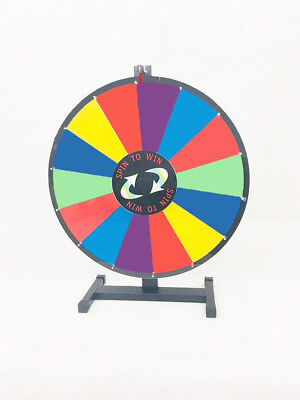 "TopStage® Upgraded Editable 24"" Color Prize Wheel Fortune Tabletop Spinning Game"