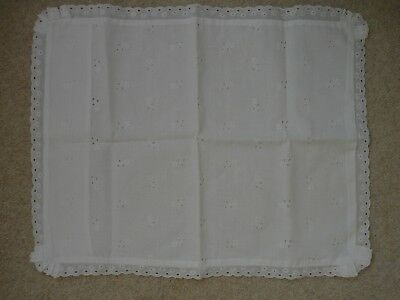 Vintage Broderie Anglaise Baby/Doll Pillowcase Cot/Pram