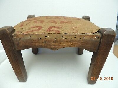 All Original Vintage Mission Oak Arts and Crafts Footstool Ottoman
