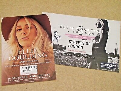 ELLIE GOULDING Signed limited edn posters - Streets of London charity auction