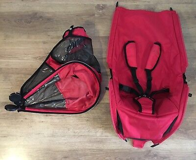 QUINNY ZAPP Pushchair replacement Seat Unit - RED - Freshly Washed - Fabrics