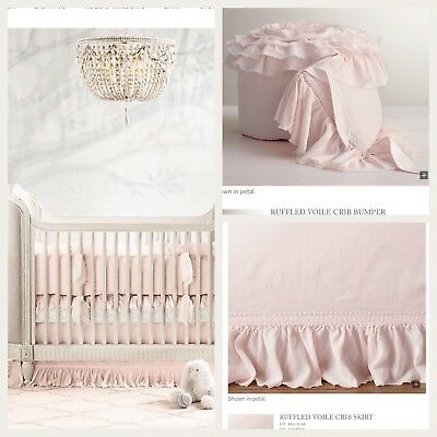 Restoration Hardware Crib Skirt & Bumper *petal*